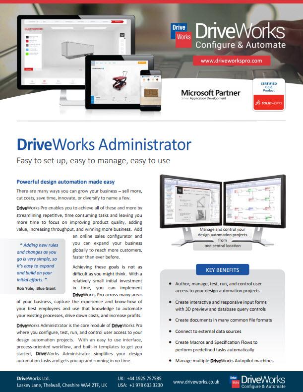 DriveWorksAdministrator