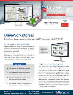 DriveWorksXpressDataSheet