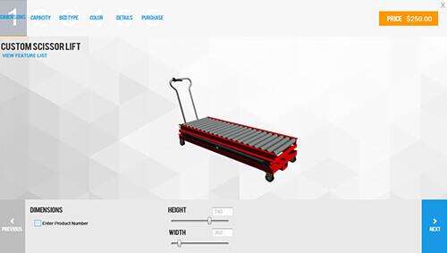 Scissor Lift Configurator