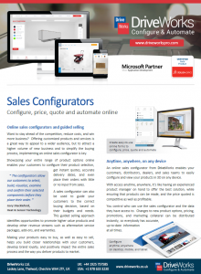 Sales Configurator Data Sheet