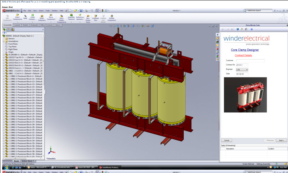 Power Transformers: Accelerated Design Process - DriveWorks