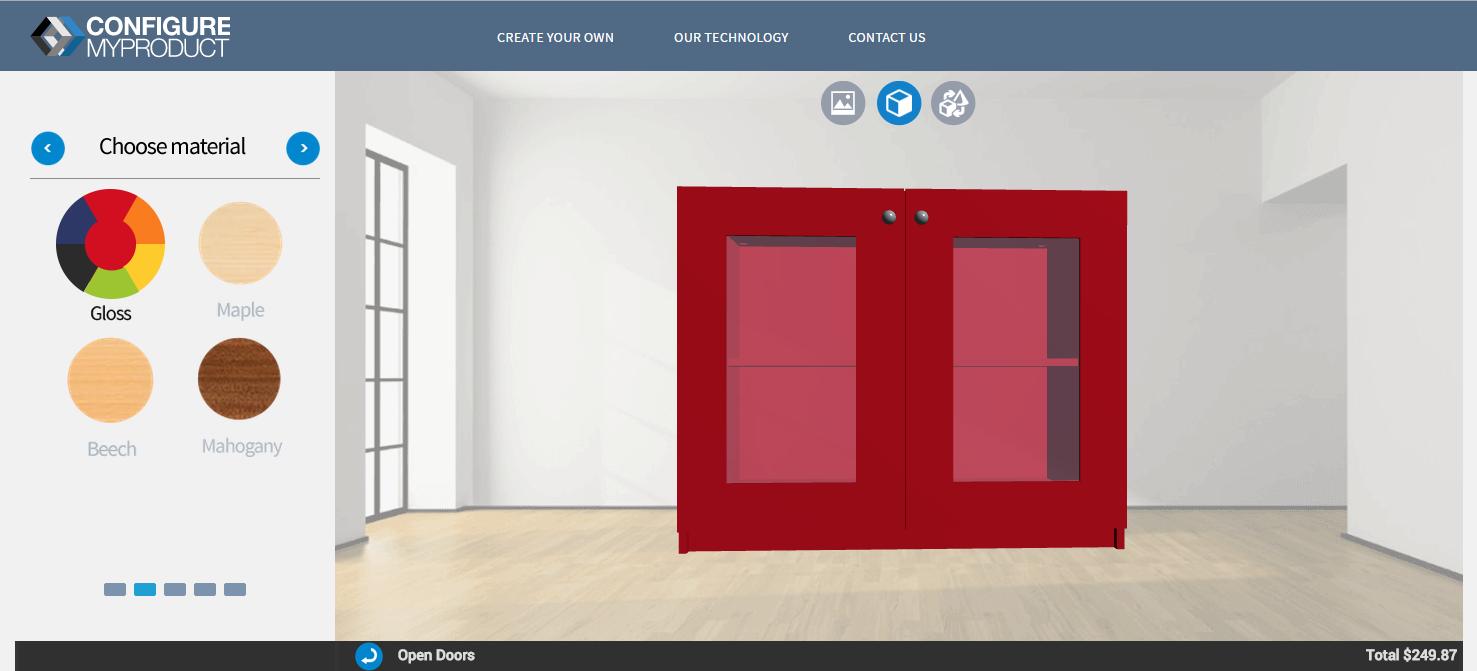 Online sales Configurator - Cupboard