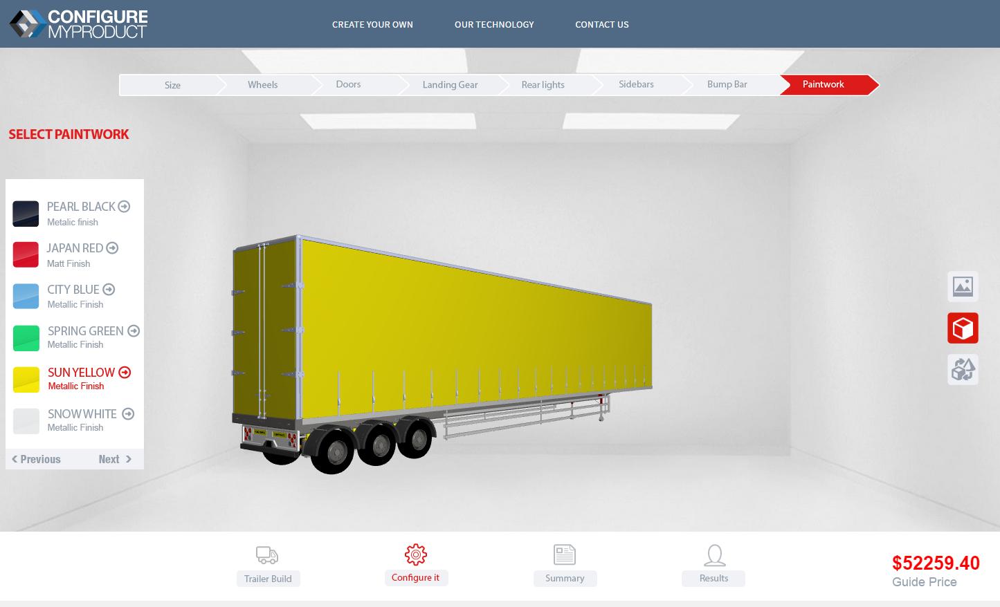 Truck Online Sales Configurator