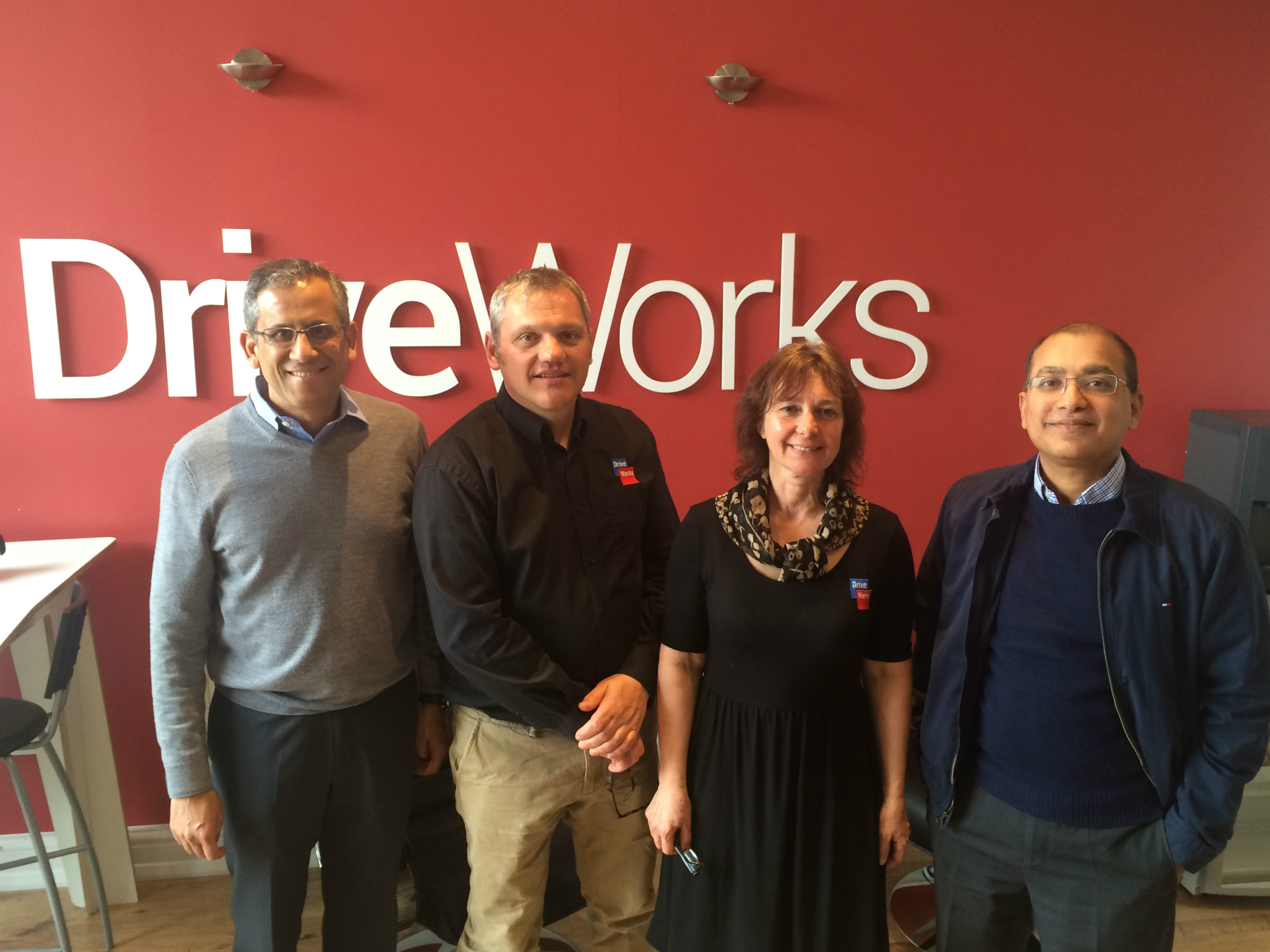 Suchit & Kishore from SOLIDWORKS with Glen & Maria