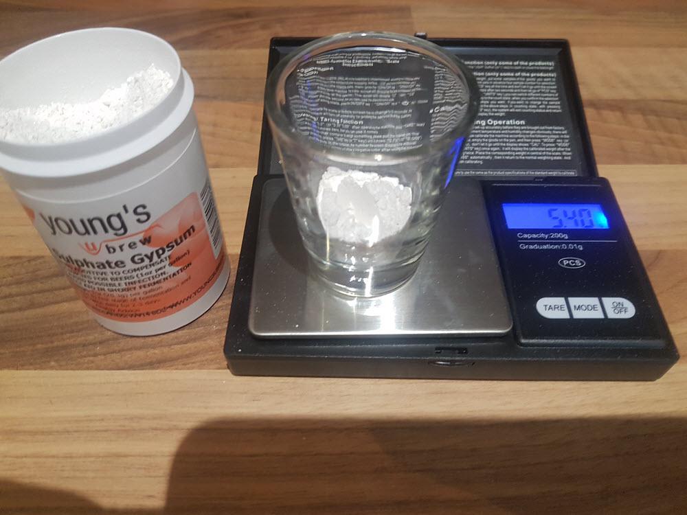 3. Water Addition - Gypsum