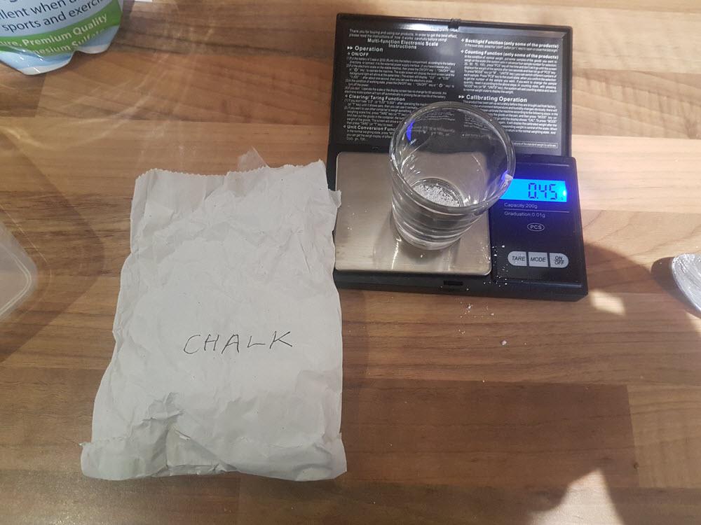 4. Water Addition - Chalk
