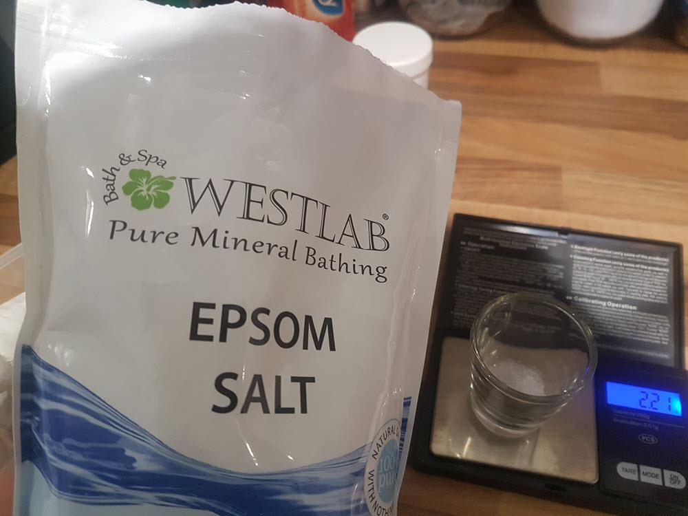 5. Water Addition - Epsom Salt