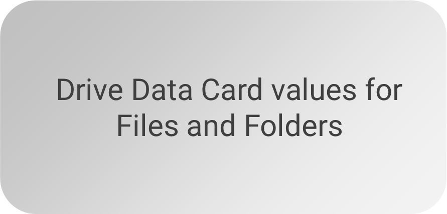 Drive Data Card values for Files and Folders
